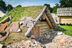 Old slavic hut Royalty Free Stock Images