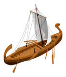 Old slavic ship. Vector illustration of an old slavic ship. Simple gradients only - no gradient mesh Royalty Free Stock Photo