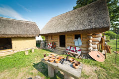 Old slavic village in Poland Stock Image