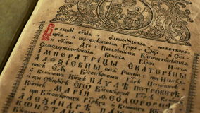 Old Slavonic Church books stock video footage