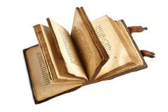 Old slavonic religion book Royalty Free Stock Photo