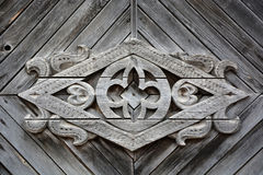 Old Slavonic symbol on the vintage wood Royalty Free Stock Photo