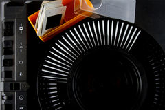 Old Slide Projector. The retro equipment Royalty Free Stock Photos