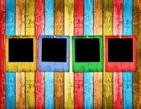 Old slides on the wooden background. Old slides on the abstract wooden background Stock Images