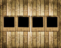 Old slides on the wooden background Royalty Free Stock Photos