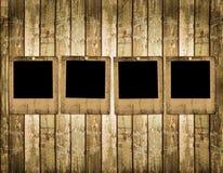 Old slides on the wooden background. Old slides on the abstract wooden background Royalty Free Stock Photos