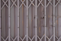 Old sliding metal door background Royalty Free Stock Images