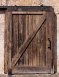 Old sliding wooden door texture Stock Photography