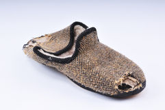 Old slipper Stock Images