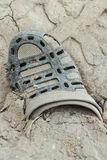 Old slipper. Royalty Free Stock Photo