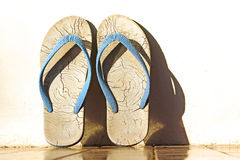 Old Slippers Royalty Free Stock Photo