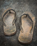 Old slippers Royalty Free Stock Photography