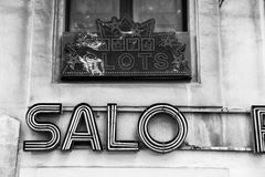 Old Slots Salon Sign Royalty Free Stock Photos