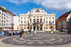 Old Slovak National Theatre building, Bratislava Royalty Free Stock Photography