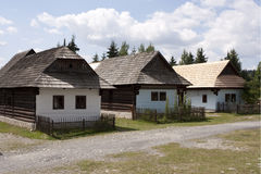 Old Slovak village Stock Image