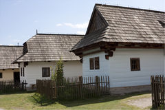 Old Slovak village stock photo
