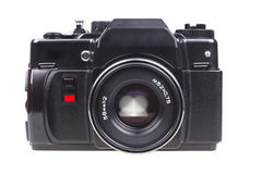 Old SLR camera. Royalty Free Stock Images