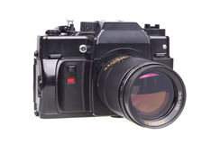 Old SLR camera. Stock Photos