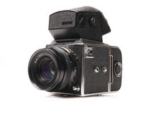 Old SLR camera Royalty Free Stock Images