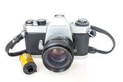 Old SLR camera film Stock Image