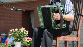 Old small accordion stock video footage