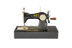 Old small black sewing machine Stock Photos
