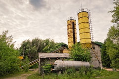 Old Small Concrete Plant Stock Images