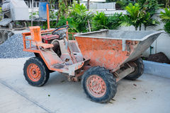 Old small dirty dumper truck Stock Photography