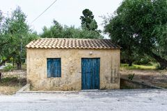 Old small house in the countryside royalty free stock images