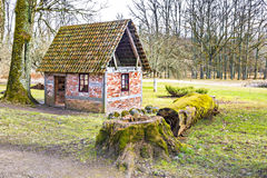 Old small house in vicinity of medieval manor, Latvia Royalty Free Stock Photography