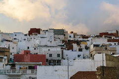 Old and small houses, Tetouan, Morocco. A view over some old and traditional houses in Tetouan, Morocco royalty free stock photo