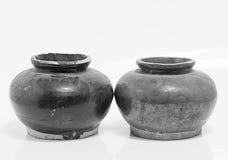 Old small jar Struck in Phuket Thailand. Old jar Struck in Phuket Thailand Royalty Free Stock Photo