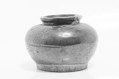 Old small jar Struck in Phuket Thailand Royalty Free Stock Photography