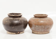 Old small jar Struck in Phuket Thailand Stock Photography