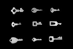 Old small keys collection Stock Photography