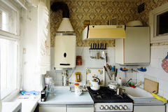 Old small kitchen Royalty Free Stock Image