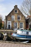 Old small port and historical houses Royalty Free Stock Photography