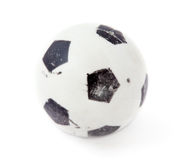 Old small soccer ball Stock Photo