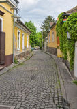 Old small street of the European town. The old small street in the City of Sentendr of Hungary Royalty Free Stock Images