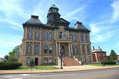 Old small town court house Royalty Free Stock Photos