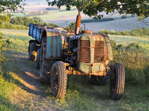 Old small tractor Royalty Free Stock Image