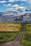 Old small wooden church in Hellnar Iceland Royalty Free Stock Photography