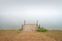 Old small wooden pier Royalty Free Stock Images