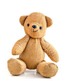Old Smiling Burlap Teddy Bear royalty free stock photography