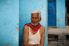 old smiling gap-toothed man in India Royalty Free Stock Photos