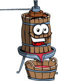Old smiling wine press Stock Image