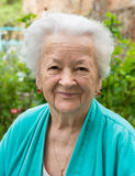 Old smiling woman Stock Photos