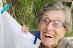 An old smiling woman Royalty Free Stock Photos
