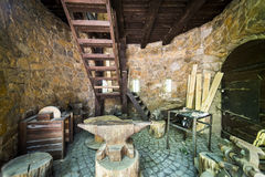 Old smith workshop. Old smithy in Ksiaz Castle Stock Images