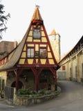 Fachwerkhaus Old Smithy in Rothenburg Stock Image
